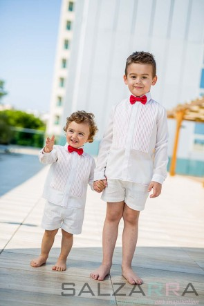 """Детски къси панталонки """"Бял класик"""""""