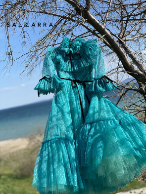 """Детска рокля """"BRUGES"""" green edition 1"""