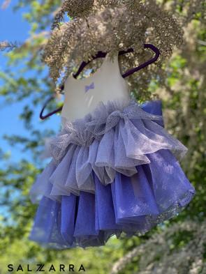"Детска рокля ""ФЛОРА"" purple edition 1"
