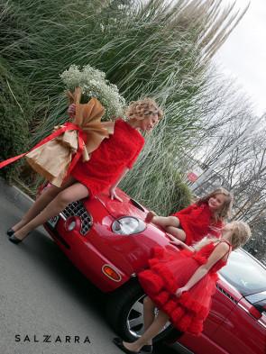 "Детска рокля ""RED BEAUTY"" - mummy edition 1"