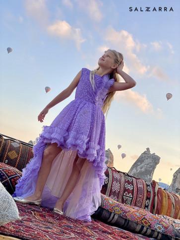 """Детска луксозна рокля """"ДАНТЕЛЕНА ПРИКАЗКА"""" purple edition 1"""