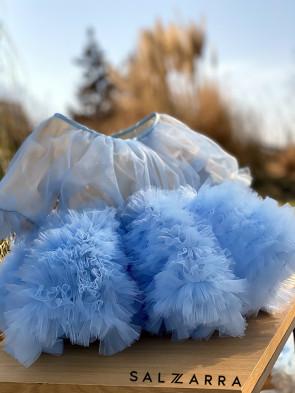 """Луксозна детска рокля """"БЕЛЛИСИМА"""" /baby blue/ 1"""
