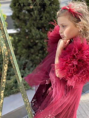 """Детска рокля """"ПРИНЦЕСА"""" burgundy edition 1"""