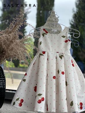 """Детска рокля """"РОЗОВА ЧЕРЕША"""" 1"""