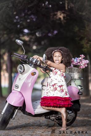 "Детска рокля ""ПРИНЦЕСА ЛЕБЕД"" raspberry edition 1"