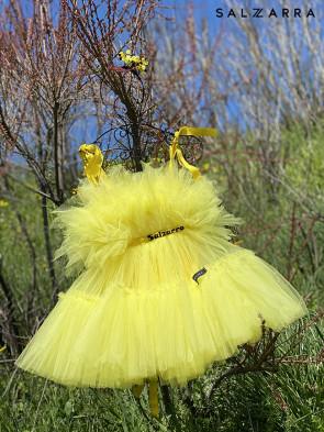 """Детска рокля """"БАЛЕРИНА"""" yellow edition 1"""