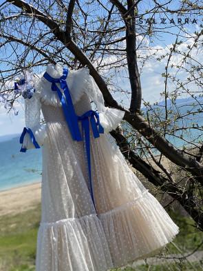 "Детска рокля ""BRUGES"" white edition 1"