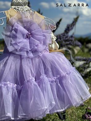 """Детска рокля """"ВИОЛЕТОВА ОЛЕСЯ"""" 1"""