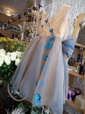 """Луксозна детска рокля """"Blue Paris"""" 1"""