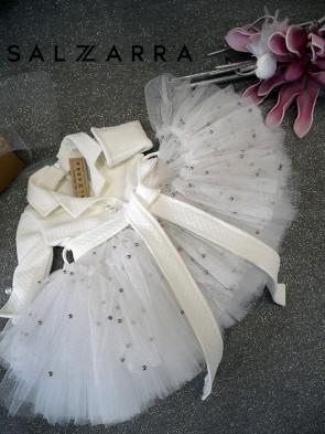 "Детска луксозна рокля  ""WHITE ROSE"" 1"