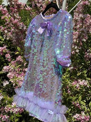 """Детска рокля """"PURPLE KISS"""" 1"""