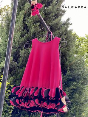 "Детска рокля ""РАМОНА"" fuchsia edition 1"
