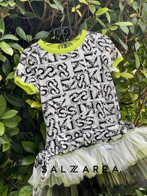 """Детска рокля """"СИРИНИТИ"""" black and white edition 1"""