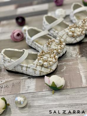"""Детски обувки """"WHITE PEARL"""" 1"""